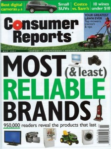 Consumer Reports Magazine is Here at the Library